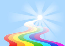 Rainbow nel cielo Fotografie Stock