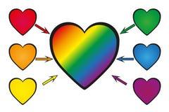 Rainbow nel cuore Illustrazione Vettoriale