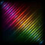 Rainbow neon diagonal equalizer Stock Photo