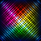 Rainbow neon grid vector background Stock Images