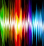 Rainbow neon illustrated background. Vector Stock Photo