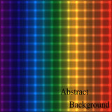 Rainbow Neon Shimmering Grid. Geometric Abstract Background. Vector Illustration Stock Illustration