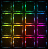 Rainbow neon squares abstract vector background Royalty Free Stock Photos