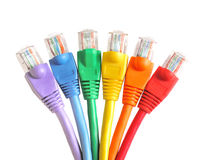 Rainbow Network Plugs Royalty Free Stock Images