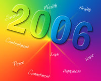Rainbow New Year. Computer generated New Years background Royalty Free Stock Photography