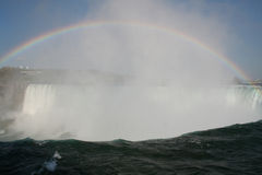 Rainbow at Niagara royalty free stock photography