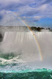 Rainbow at the Niagara Falls Stock Image