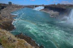 Rainbow on The Niagara River Stock Photo