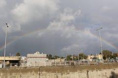 Rainbow. A nice shot in Haifa city Royalty Free Stock Images