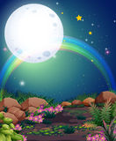 A rainbow during nighttime Royalty Free Stock Image