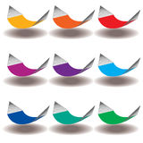A Rainbow of Nine hammocks Stock Image