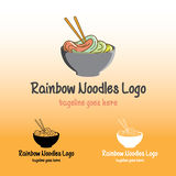 Rainbow Noodles Logo. Is a great logo for your business, community, cafe, restaurant, etc Stock Photos
