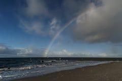 Rainbow on the North Frisian Island Amrum. In Germany Stock Photo