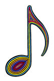 Rainbow note. Styled rainbow note,  illustration Stock Images