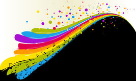 Rainbow and notes Royalty Free Stock Photography