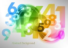 Rainbow numbers Royalty Free Stock Photography