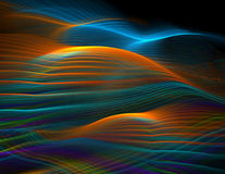 Rainbow ocean waves. Abstract graphic design rendered at high quality showing many details when viewed full size Stock Images