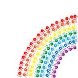 Rainbow Of Children&x27;s Hands Prints Stock Photography