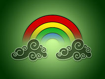 Rainbow On Clouds Royalty Free Stock Photography