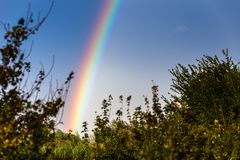 Free Rainbow On Countryside Royalty Free Stock Images - 132337399