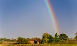 Free Rainbow On Countryside Royalty Free Stock Photography - 132337477