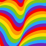 Rainbow opt art background, bright pattern Stock Images