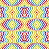 Rainbow opt art background, seamless pattern Royalty Free Stock Photography