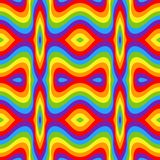 Rainbow opt art background, seamless pattern Stock Images