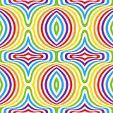 Rainbow opt art background, seamless pattern Royalty Free Stock Photos