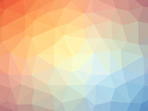Rainbow orange blue gradient polygon shaped background Stock Photography