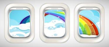 Rainbow outside the window Royalty Free Stock Photo