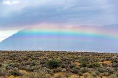 Rainbow Outside Zion National Park Stock Photos