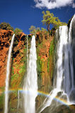 Rainbow at Ouzoud waterfall, Morocco Stock Images