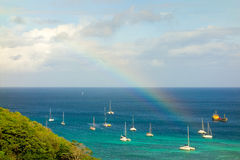 A rainbow over admiralty bay Royalty Free Stock Photos