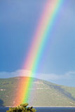 Rainbow over the Adriatic sea in Croatia Stock Photos