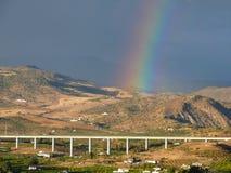 Rainbow over AVE Stock Photos