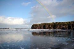 Rainbow over the ballybunion cliffs Stock Photos