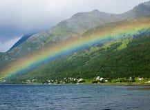 Rainbow over the bay Stock Photos
