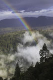 Rainbow over California forest Royalty Free Stock Images