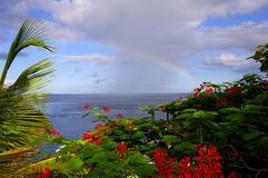 Rainbow Over The Caribbean-II Stock Photos