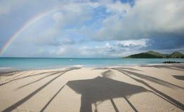 Rainbow over carrabien sea Stock Image