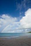 Rainbow over carrabien sea Stock Photos