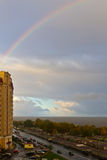 Rainbow over a city Royalty Free Stock Photography