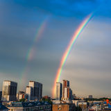 Rainbow over the city Royalty Free Stock Image