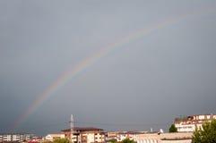 Rainbow over the city Royalty Free Stock Photo