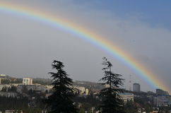 Rainbow over the city Stock Photography