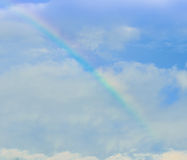 Rainbow over the cloud. Image taken after the rain Royalty Free Stock Photo