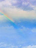 Rainbow over the cloud. Image taken after the rain Royalty Free Stock Photos