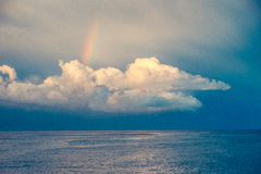 Rainbow over the clouds Royalty Free Stock Photo