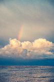 Rainbow over the clouds Royalty Free Stock Photos